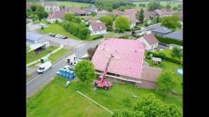 première étape : le toit ! fait en juin.